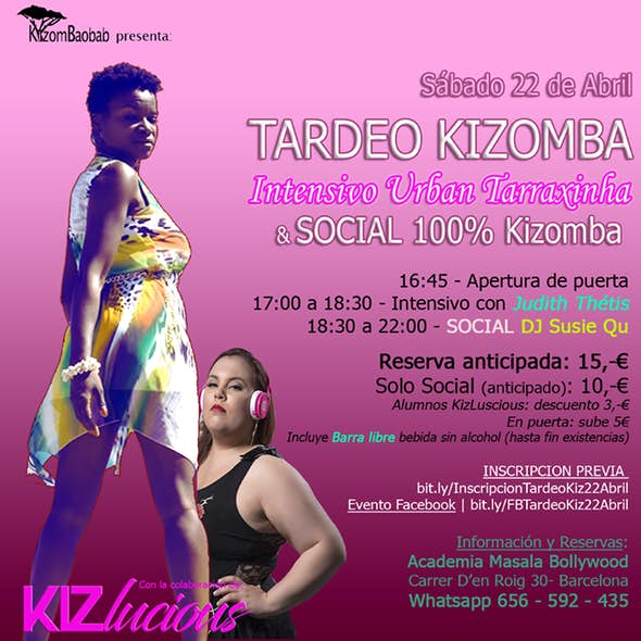 Tardeo Kizomba: Workshop URBAN Tarraxa + Social Dancer