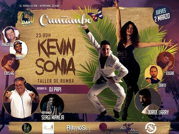 Rumba workshop by Kevin & Sonia. Dj Papi & Cumambo Team.