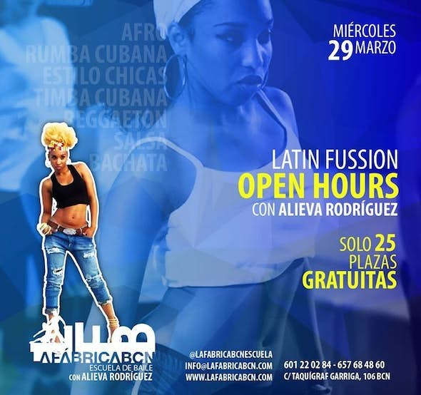 LatinFussion Open Hours | wednesday 29 march