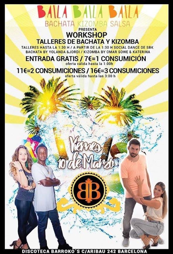 Viernes taller Bachata & Kizomba Entrada Gratis (Barrokos)