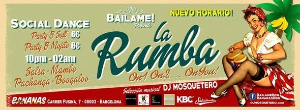 La Rumba by Bailame! 8 Mar Barcelona