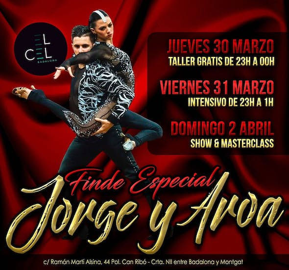 Bachata workshop 2h. with Jorge & Aroa + party at el Cel Badalona
