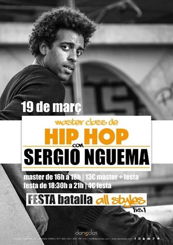 Master class de Hip Hop amb Sergio Nguema + Festa batalla