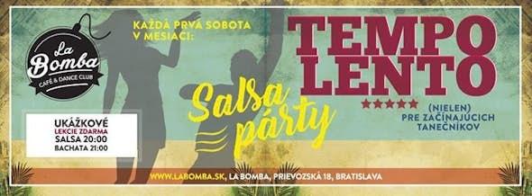 TEMPO LENTO - Salsa párty, DJ Elier +Lekcie Salsa,Bachata zdarma