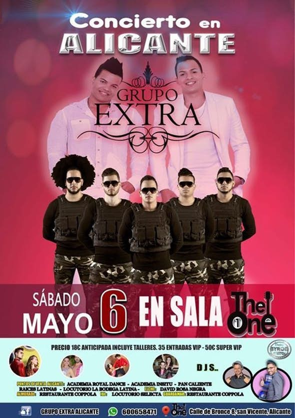 GRUPO EXTRA concert in Alicante 6 May