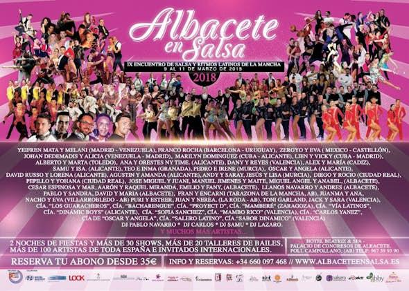 Albacete en Salsa 2018 - Encuentro Internacional de Salsa y Ritmos Latinos (9ª Edición)