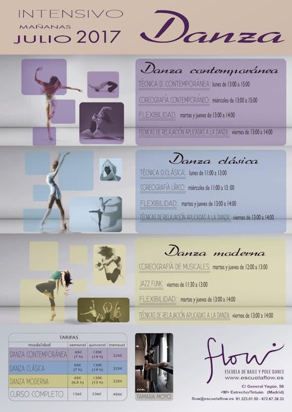 Intensivo de Danza Clásica, Contemporána y Moderna