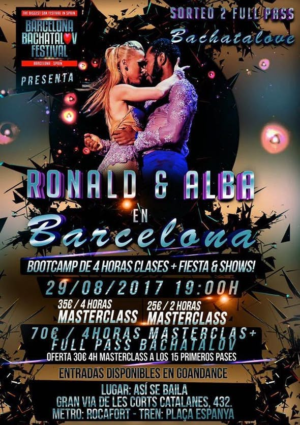 Ronald & Alba Bootcamp Barcelona 29 Agosto 2017