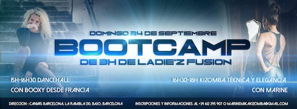 Bootcamp Ladie'Z Fusion (Intensive 3 hours)