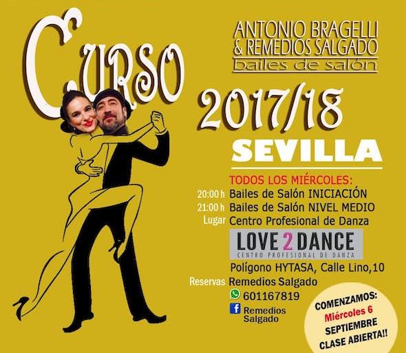 Clase Abierta IPresentación Curso de Bailes de Salón Antonio Bragelli y Remedios 2017-18