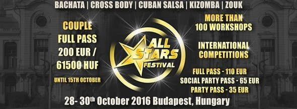 ALL STARS Festival 28-30 October 2016 Budapest