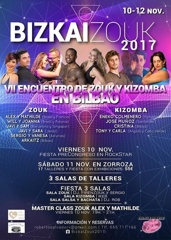 BizkaiZouk 2017 - VII Encuentro de Zouk y Kizomba en Bilbao