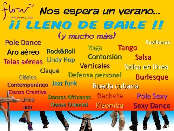 Intensivos de salsa, bachata, pole dance, danza clásica y contemporánea y muchos más