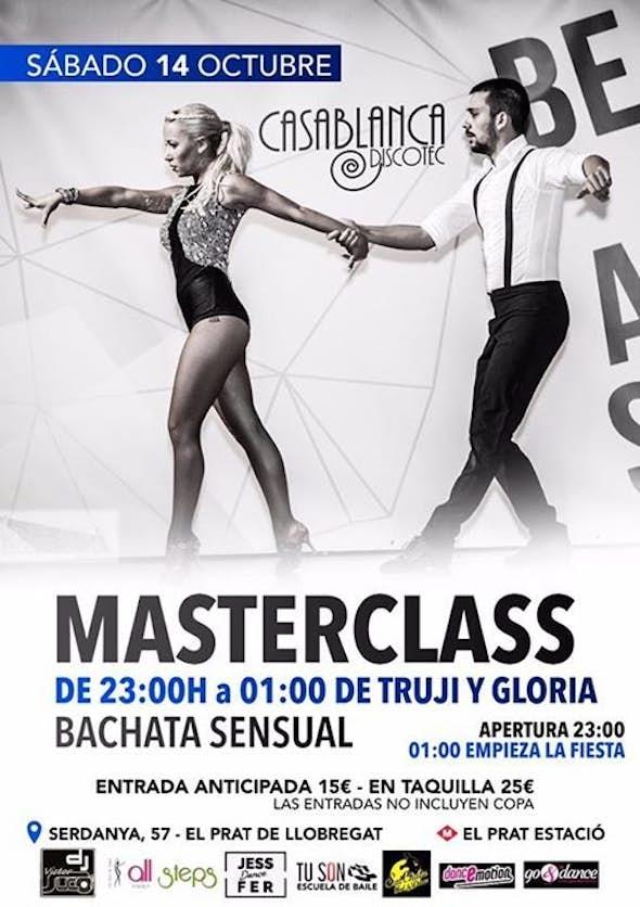 Fiesta Bailando en el Prat + Masterclass de Bachata Sensual con Truji y Gloria