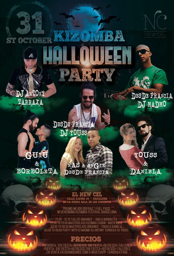 Kizomba Barcelona 31 Octubre Halloween