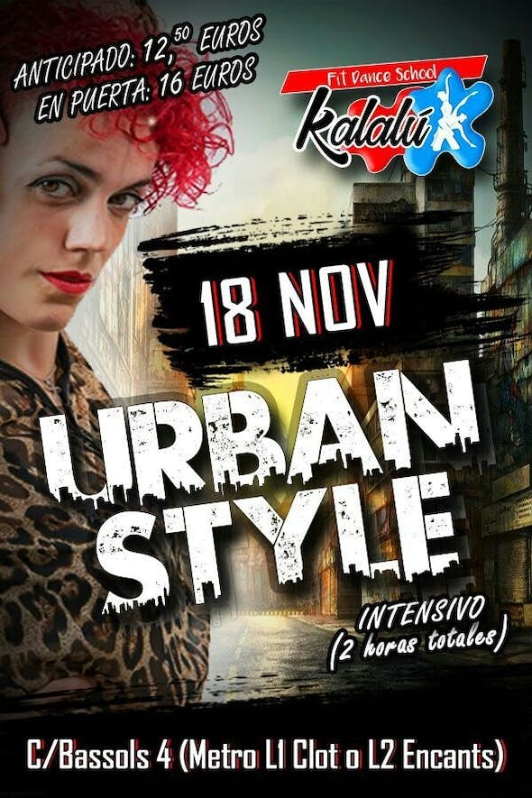 Intensive 2h. Urban Style to apply on the dancefloor