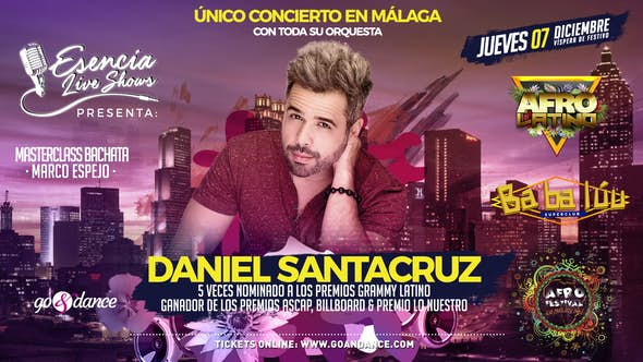 Daniel Santacruz live en Málaga