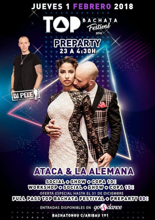 Ataca and la Alemana Top Bachata festival Preparty