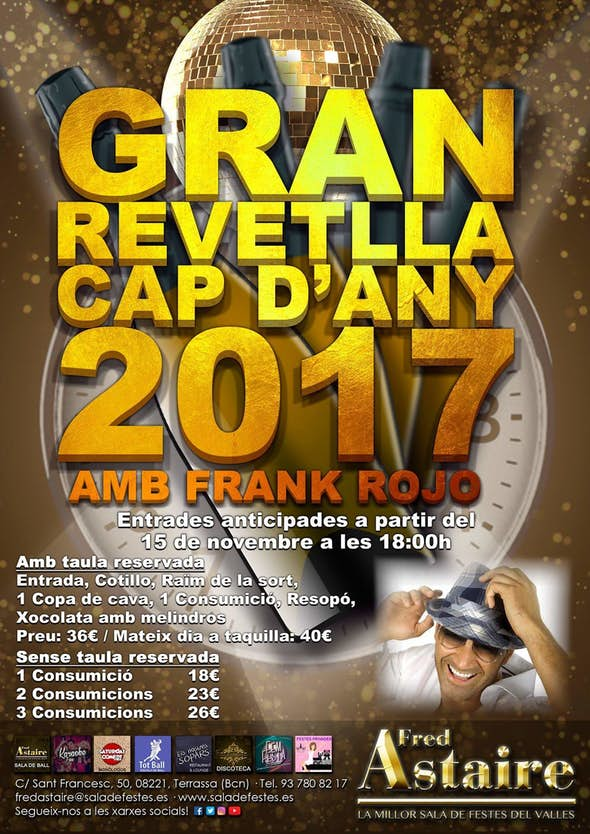 Fin de Año en Fred Astaire Sala de Fiestas