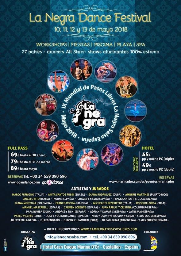 La Negra Dance Festival 2018 - Mundial Pasos Libres (9th Edition)