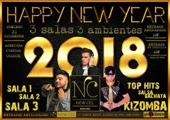 New Year's Eve Party at el New Cel in Badalona