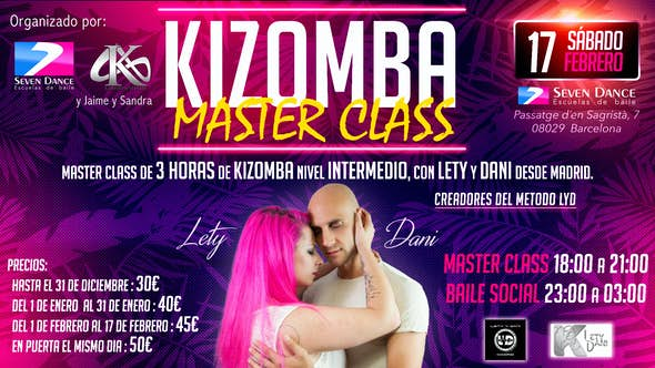 Master Class of Kizomba by Lety & Dani