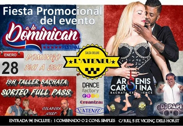 Promotional party A Lo Dominican Festival