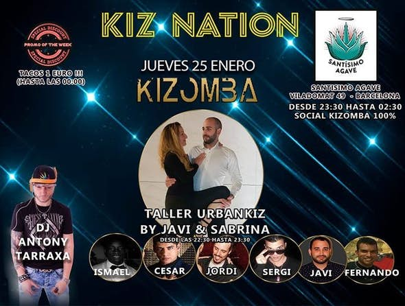 Kizomba Barcelona Jueves  - Kiz Nation