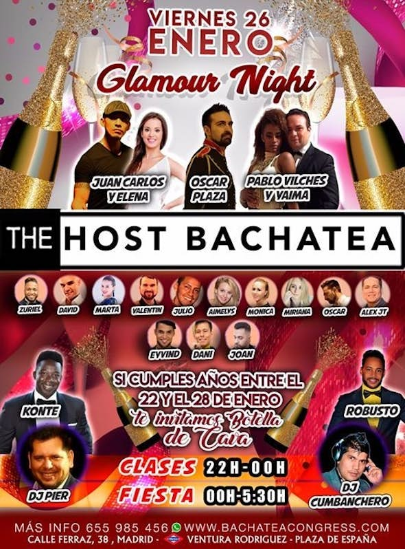 Glamour Night -The Host -Bachatea- Friday 26/01