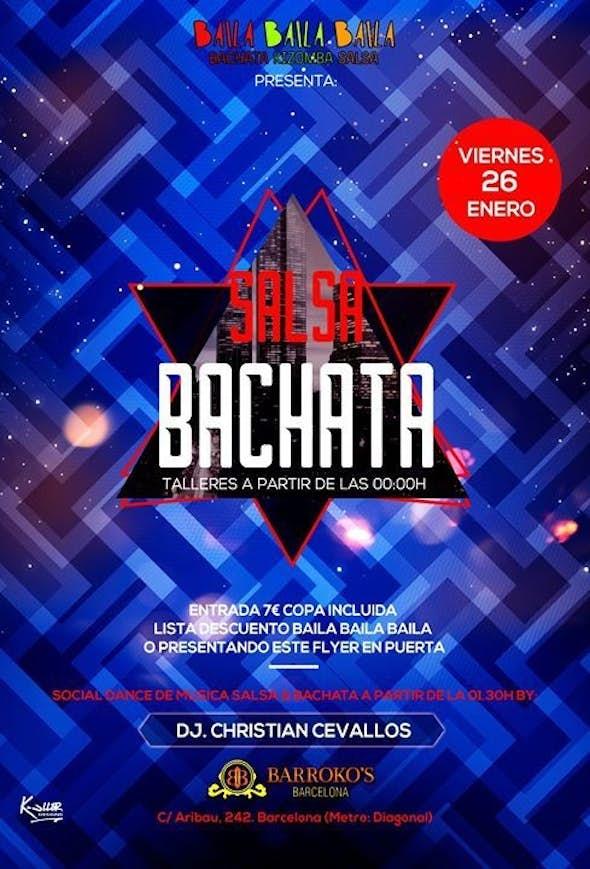 Bachata & Salsa Workshop + Fiesta Viernes 26 ENERO 2018
