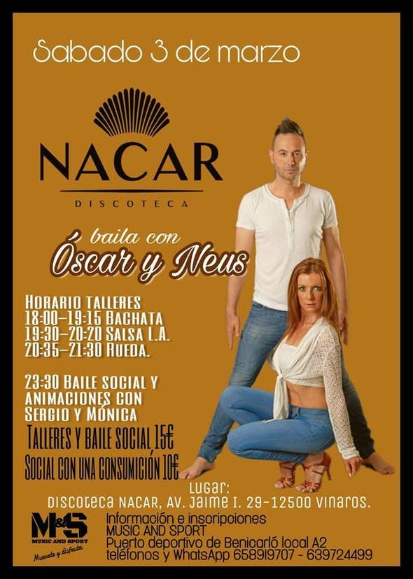 Sábado de baile en Nácar con Oscar y Neus