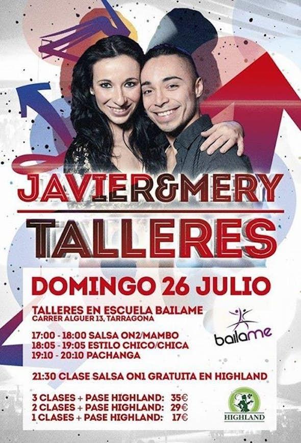 Jornada de Talleres con JAVIER PADILLA & MERY MESEGUER y Fiesta por la noche