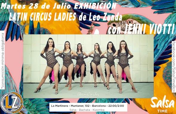EXHIBICIÓN ESTILO DE CHICAS LATIN CIRCUS LADIES LEO ZUNDA con JENNI VIOTTI