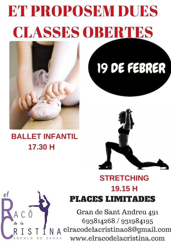 Clase abierta de ballet y stretching