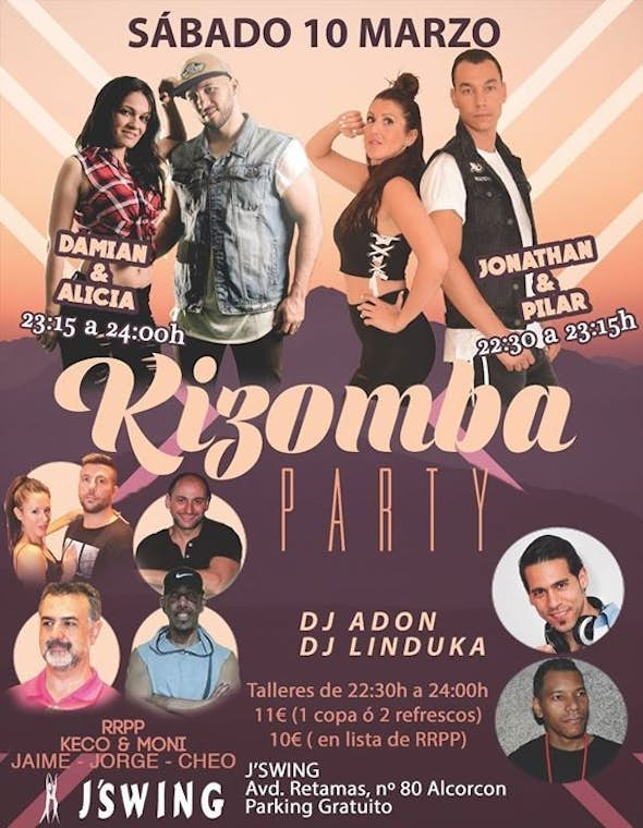 Madrid Kizomba PARTY (Sábado 10 de marzo)