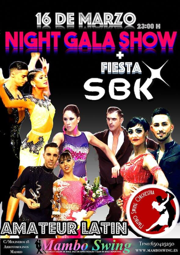 Gala Show Latin + fiesta SBK+ Show Bachata Team+ Mambo Swing orchestra