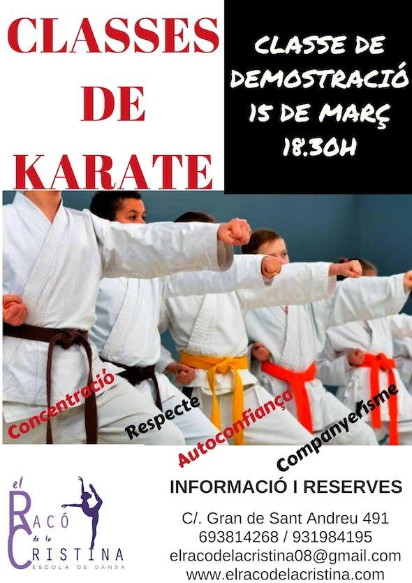 Clase demostración karate
