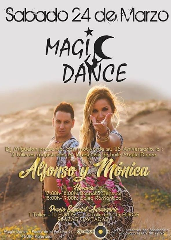 Talleres de Alfonso y Monica en Magic Dance