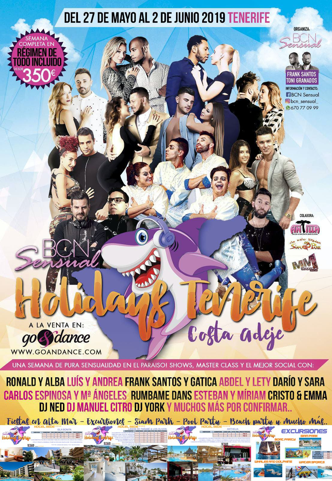 BCN Sensual Holidays Tenerife 2019