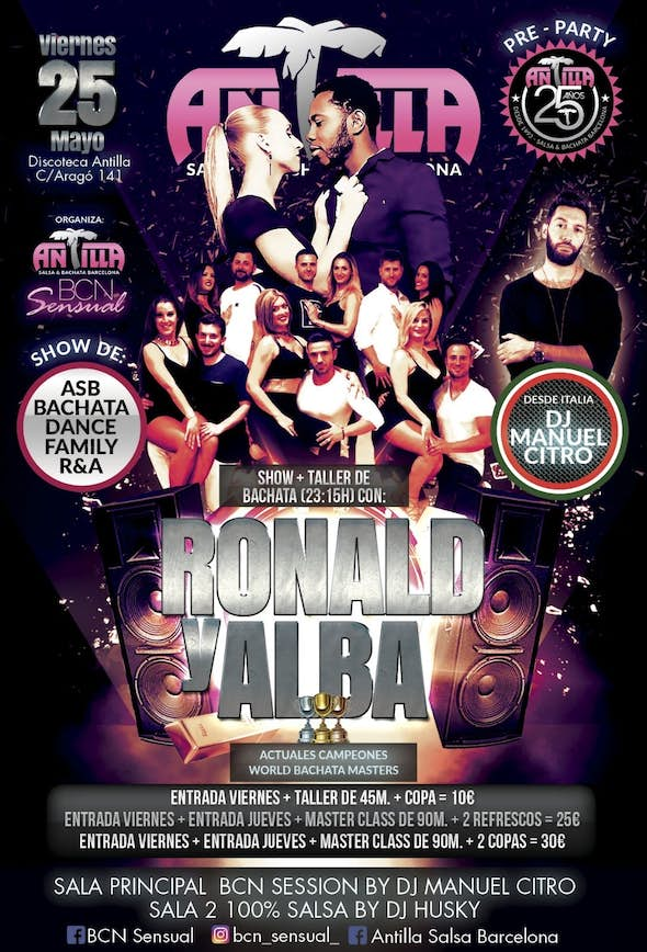 Bachata Master Class with Ronald and Alba