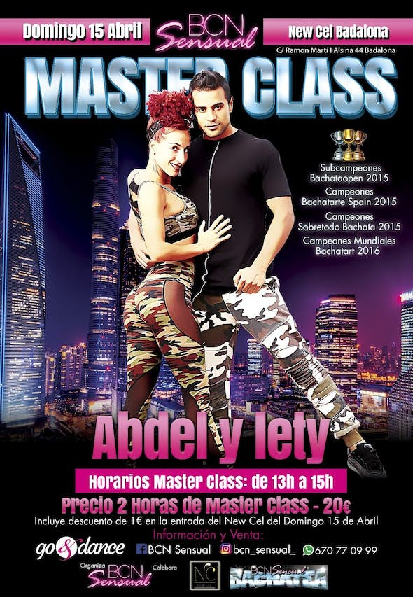 Bachata Master Class with Abdel and Lety