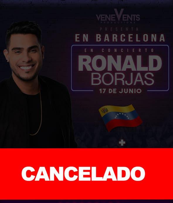 RONALD BORJAS concierto en Barcelona (CANCELADO)