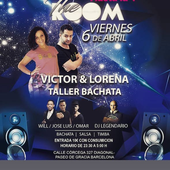 FREE Bachata Fusion Workshop + Party at 00h in The Room Barcelona