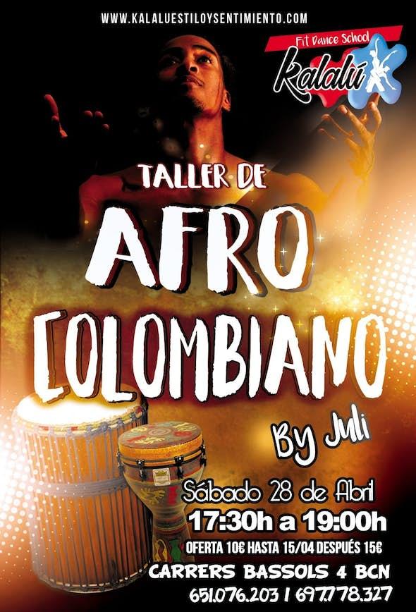 AFRO COLOMBIAN Workshop in Barcelona