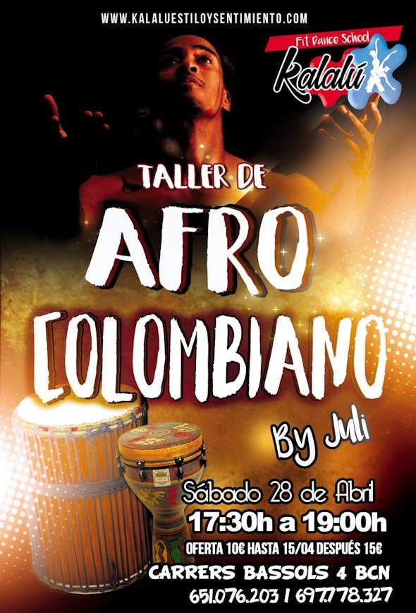 Taller AFRO COLOMBIANO en Barcelona