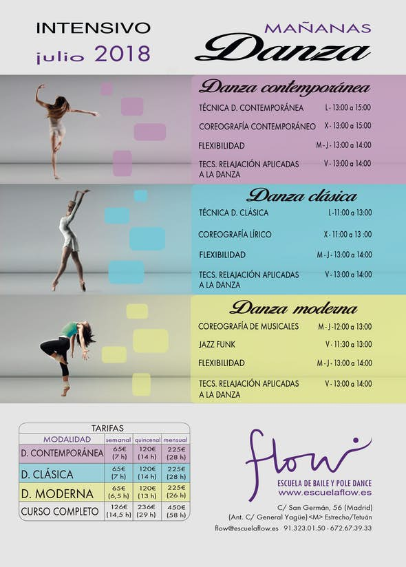 Intensivo Danza Clásica, Contemporánea y Moderna