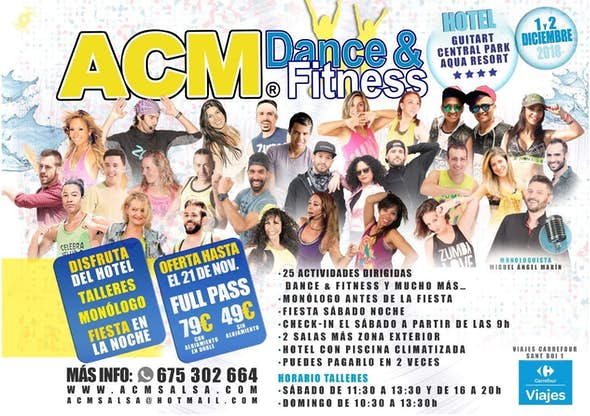 ACM Dance and Fitness - 1 y 2 de diciembre 2018