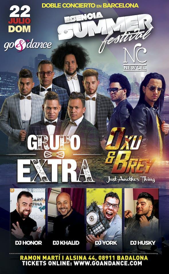 Grupo Extra y Oxu y Brey - Doble concierto en Barcelona - 22 Julio 2018