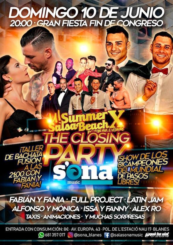 The closing party...u!Summers salsa beachX