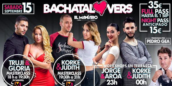 BACHATA LOVERS - Sábado 15 Septiembre